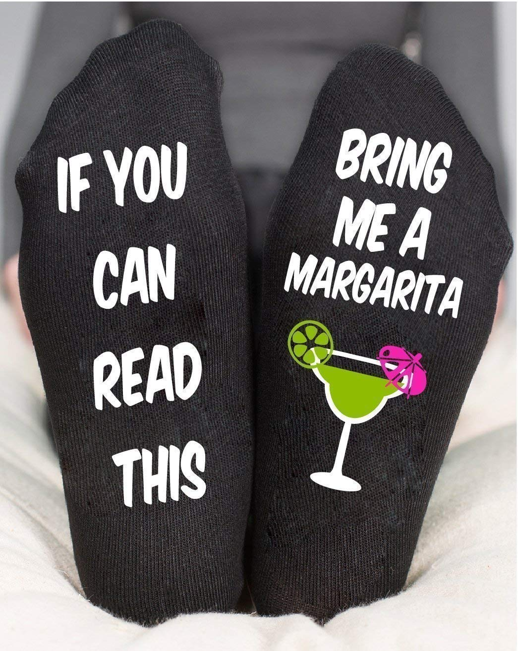Bring Me A Margarita Socks If You Can Read This Birthday Gift
