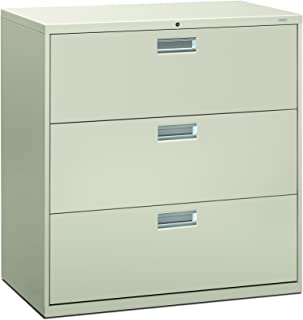 product image for HON 693LQ 600 Series 42-Inch by 19-1/4-Inch 3-Drawer Lateral File, Light Gray