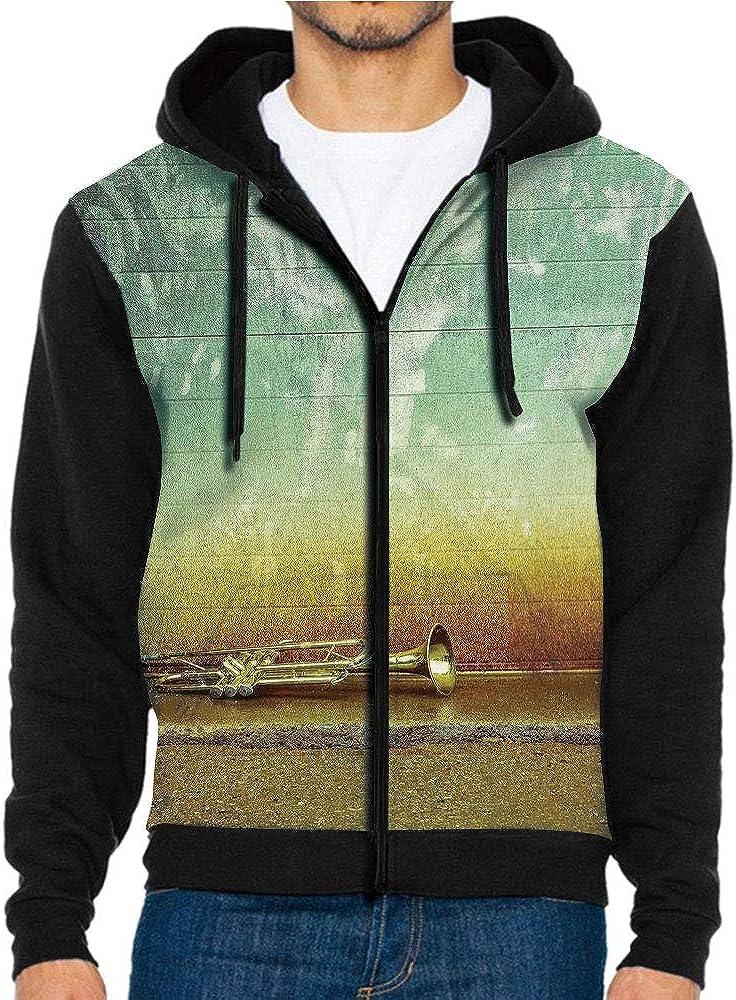 3D Printed Hoodie Sweatshirts,a Grungy Wall Outside,Hoodie Casual Pocket Sweatshirt