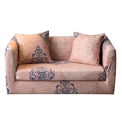 MEIQB Stretch Printed Sofa Slipcover Anti Wrinkle 1 2 3 4 Seater Sofa Cover  Lightweight Slip