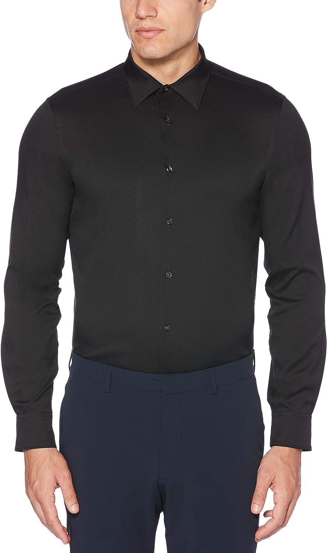 Perry Ellis Men's Slim Fit Solid Stretch Dress Shirt