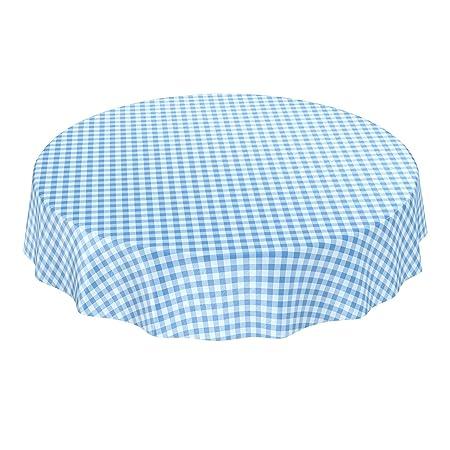 Mantel de hule encerado a cuadros lavable para mesa, toalla, azul ...