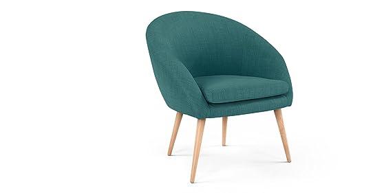 Fauteuil Picerno fauteuil bleu canard sombre Amazon Cuisine