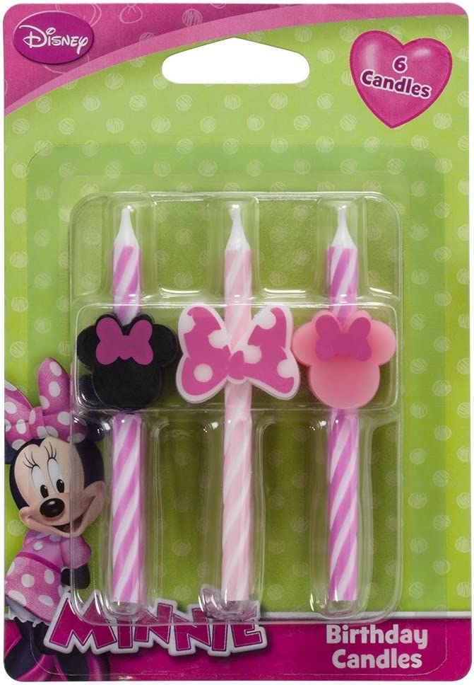 Amazon.com: Disney Minnie Mouse Cake Candles - 6 pc: Kitchen ...