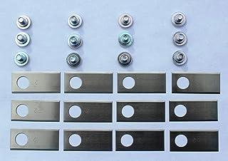 Hjar 12 pale e bulloni in acciaio inossidabile per i modelli honda miimo 300, 320, 500 e 520 ma non 3000