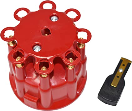A-Team Performance Universal 8-Cylinder Female Pro Series Distributor Cap /& Rotor Kit Red