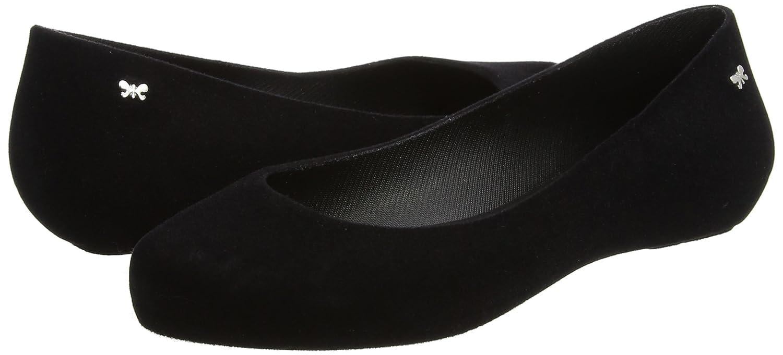 92b075b20e6 Amazon.com   Zaxy Womens Black Pop Flock II Ballerina Flats   Shoes