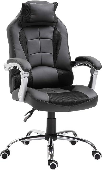 Fauteuil chaise de bureau manager grand confort hauteurinclinaison dossier réglable noir