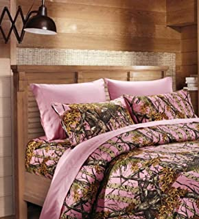 Delightful 20 Lakes Super Soft Microfiber 3 Piece Camo Bed Sheets And Pillowcases (Pink,  Twin