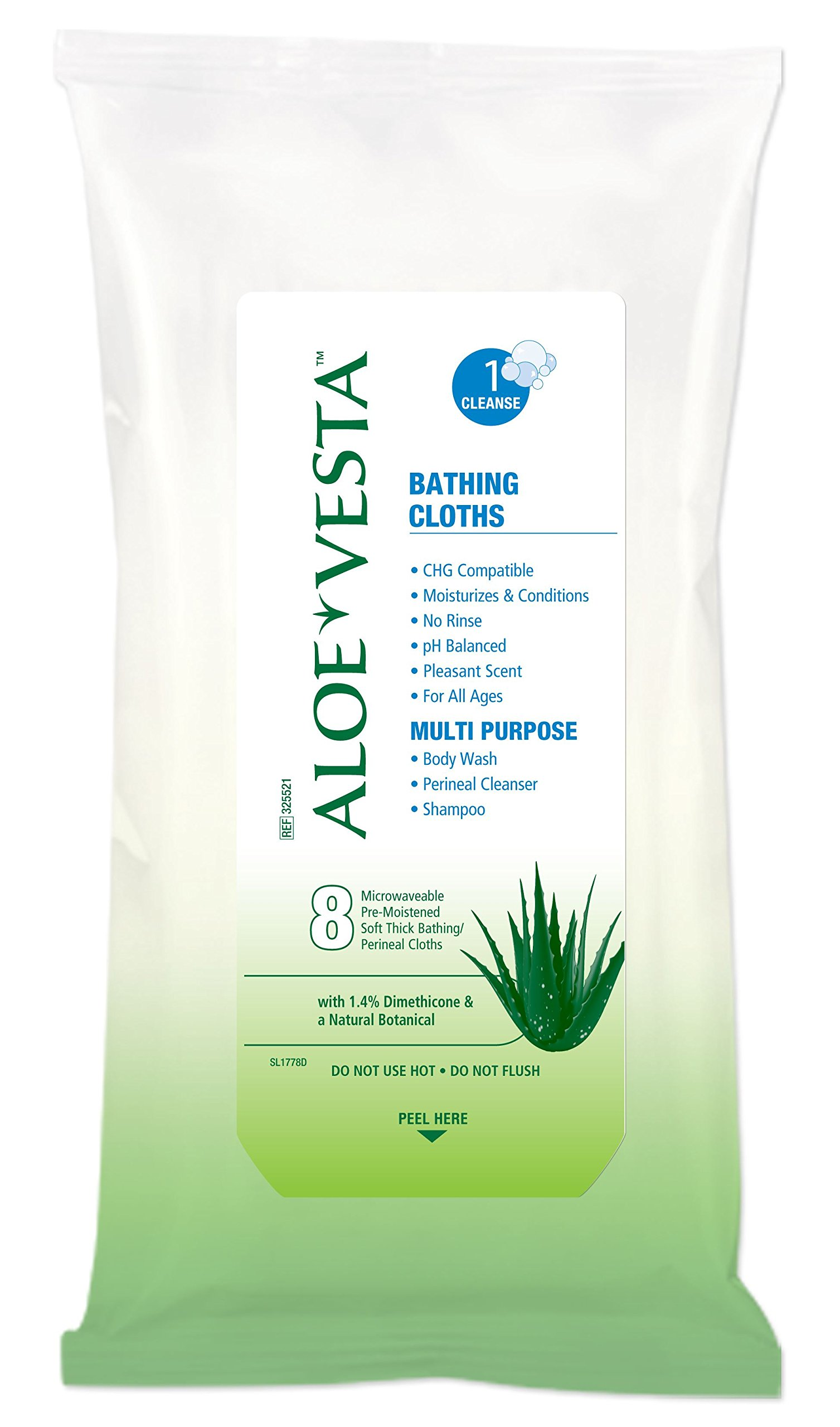 MCK55211800 - Bath Wipe Aloe Vesta Soft Pack Dimethicone Scented