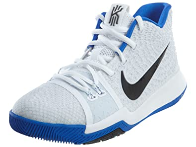 Nike Kids Kyrie 3 GS, WHITE/BLACK-HYPER COBALT, Youth Size 7