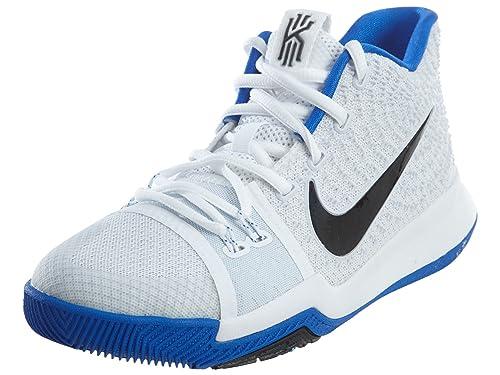 Kyrie 3 (GS) (7 US, White/Black-Hyper Cobalt): Amazon.es: Zapatos ...