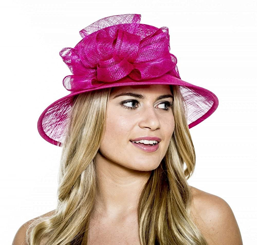 6424a075011b5 Boardmans Anastasia Small Brim Sinamay Hat from Elegance (Navy)   Amazon.co.uk  Clothing