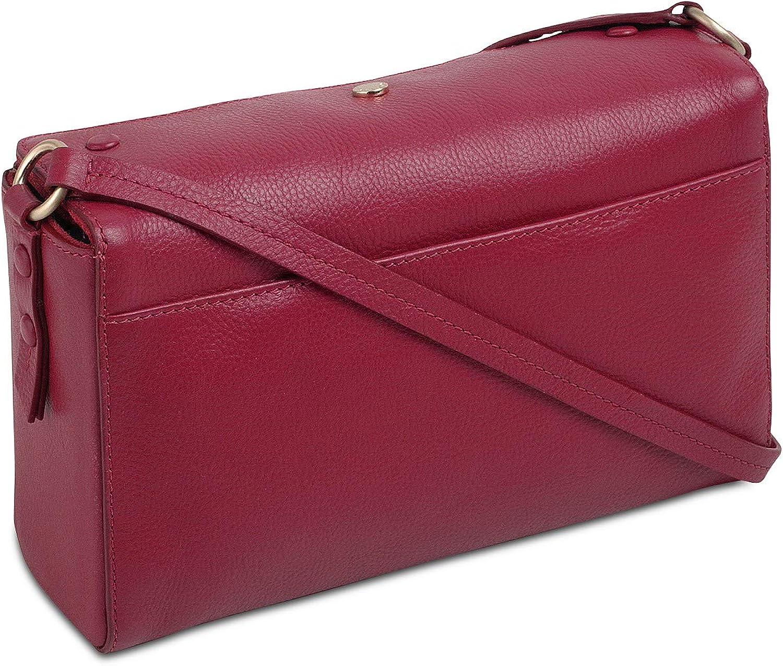 Radley London Genuine Leather Flapover Top Crossbody Purse