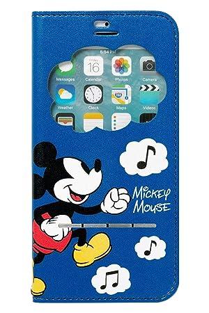 557834d314 iPhone8 iPhone7 ケース 手帳型 ディズニー 窓付き キャラクター カード収納/ミッキーマウス