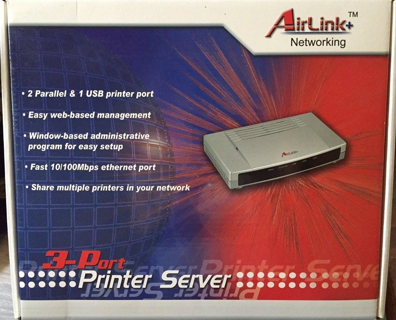 AirLink 3-Port Printer Server APSUSB2 by AirLink