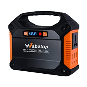 Webetop 155Wh AC出力100W ポータブル電源