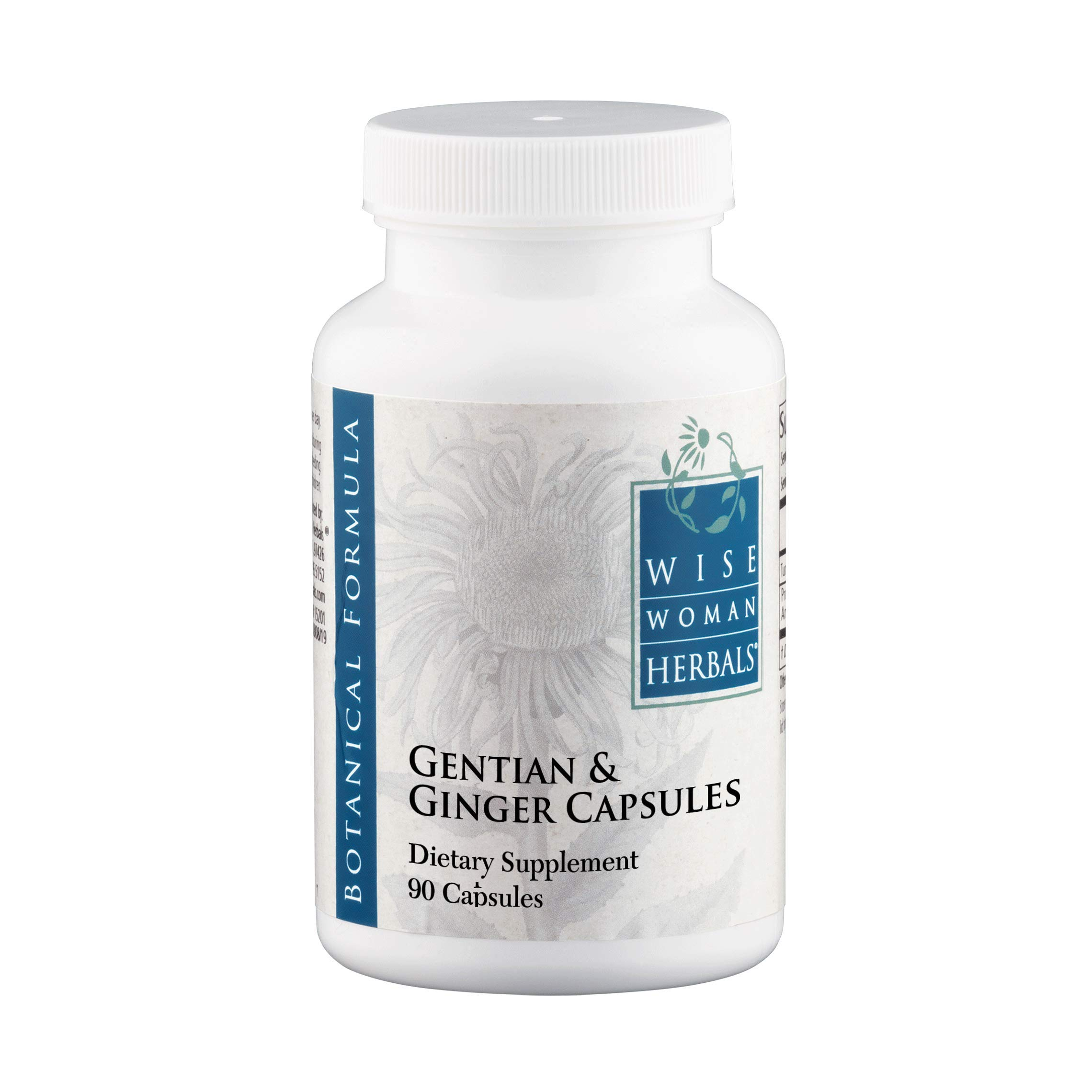 Wise Woman Herbals - Gentian & Ginger Capsules - All-Natural Digestive Function Support Supplement for Normal Healthy Digestion, Natural Aid for Occasional Upset Stomach, Acid Indigestion and Gas