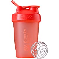 Blender Bottle Classic Full Colour with Loop Shaker Bottle, Coral, 590 ml Capacity