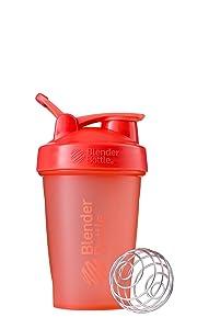 BlenderBottle Classic Loop Top Shaker Bottle, 20-Ounce, Coral/Coral