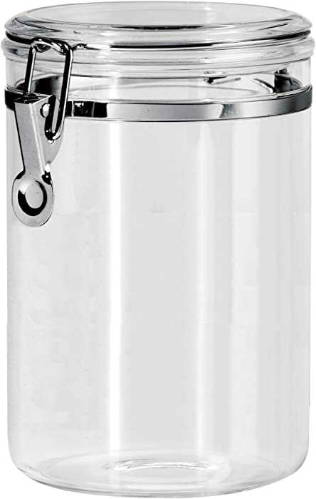 Oggi 59-Ounce Clear Acrylic Canister with Locking Clamp