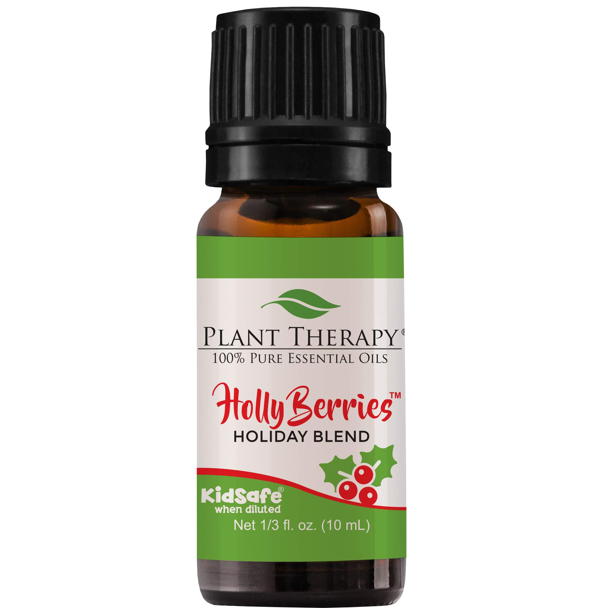 Plant Therapy Essential Oil | Holly Berries Holiday Blend | 100% Pure, Undiluted, Natural Aromatherapy, Therapeutic Grade | 10 milliliter (⅓ ounce)