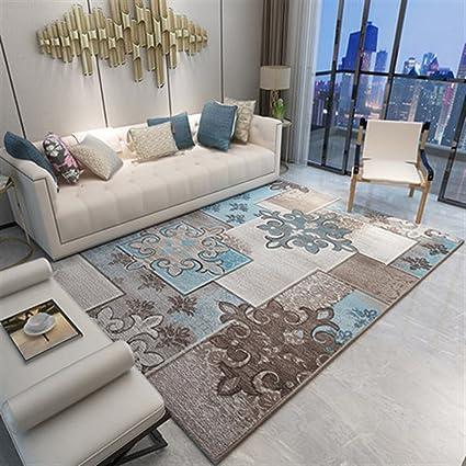 Ommda tappeti Salotto Soggiorno Moderni Home Stampa 3D tappeti Soggiorno  Pelo Corto Antiscivolo Lavabili 140x200cm 9mm
