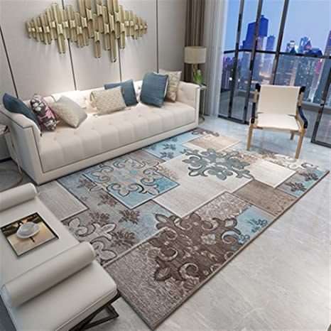 Ommda tappeti Salotto Soggiorno Moderni Home Stampa 3D tappeti Soggiorno  Pelo Corto Antiscivolo Lavabili 180x250cm 9mm