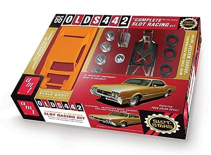 Amazon com: AMT 1966 Oldsmobile 442 Slot Car Race Model Kit