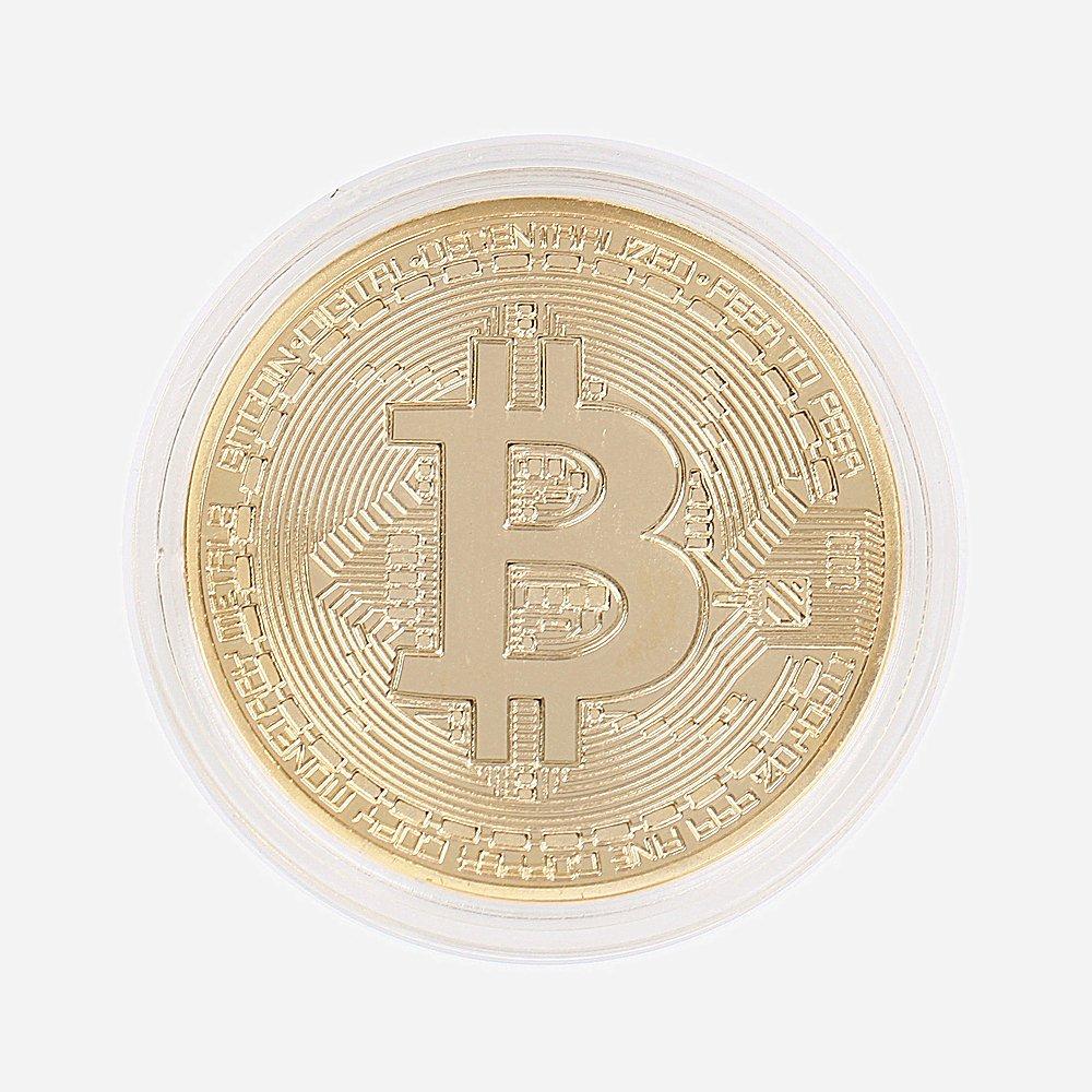 GAOHOUビットコイン金メッキBitcoin仮想通貨 コイングッズギフトBTCコインアートコレクションフィジカルYG