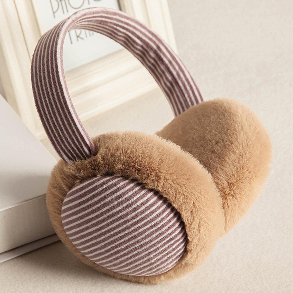 Paraorecchie CJC Earmuffs Inverno Mantieni Caldo Ispessimento Stitching Striscia (Colore : 4)