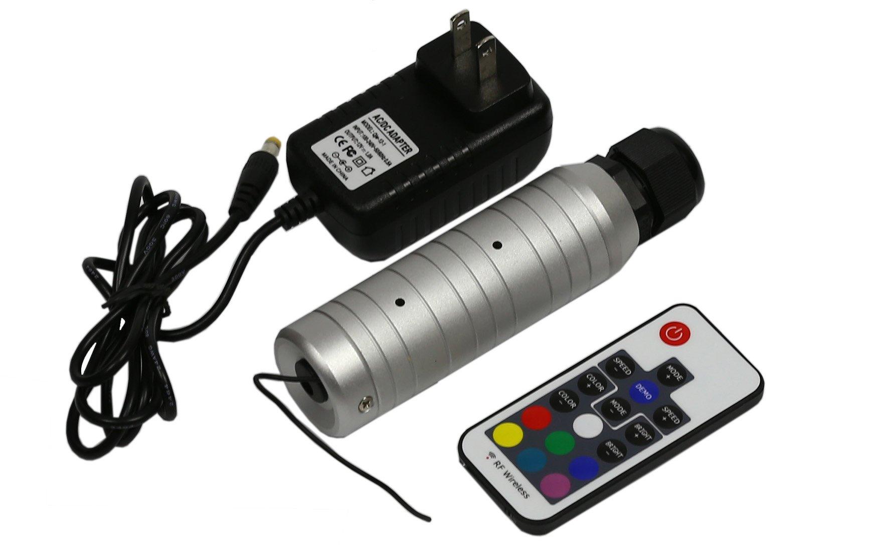 Fiber Optic Light Source 6w Led Light Rf Remote RGB Colors Change for Home Decoration Night Lighting