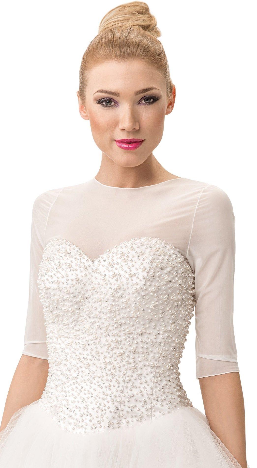 Bridal Tulle Bolero Shrug Dress T-Shirt Wedding Jacket