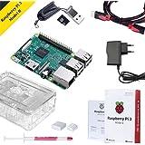 Raspberry Pi 3 Kit Modello B Quad-Core 1.2 GHz 1GB RAM con Accessori come regalo (Custodia Trasparente, Alimentatore, Dissipatore di Calore, MicroSD da 32 GB, Cavo HDMI )