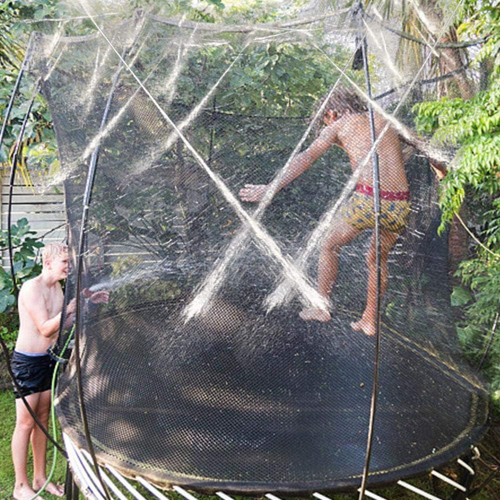 Parque acu/ático Divertido Juguetes de Verano Accesorios de trampol/ín 39 pies, Verde//Naranja Rociadores de trampol/ín para Juegos de Agua para ni/ños