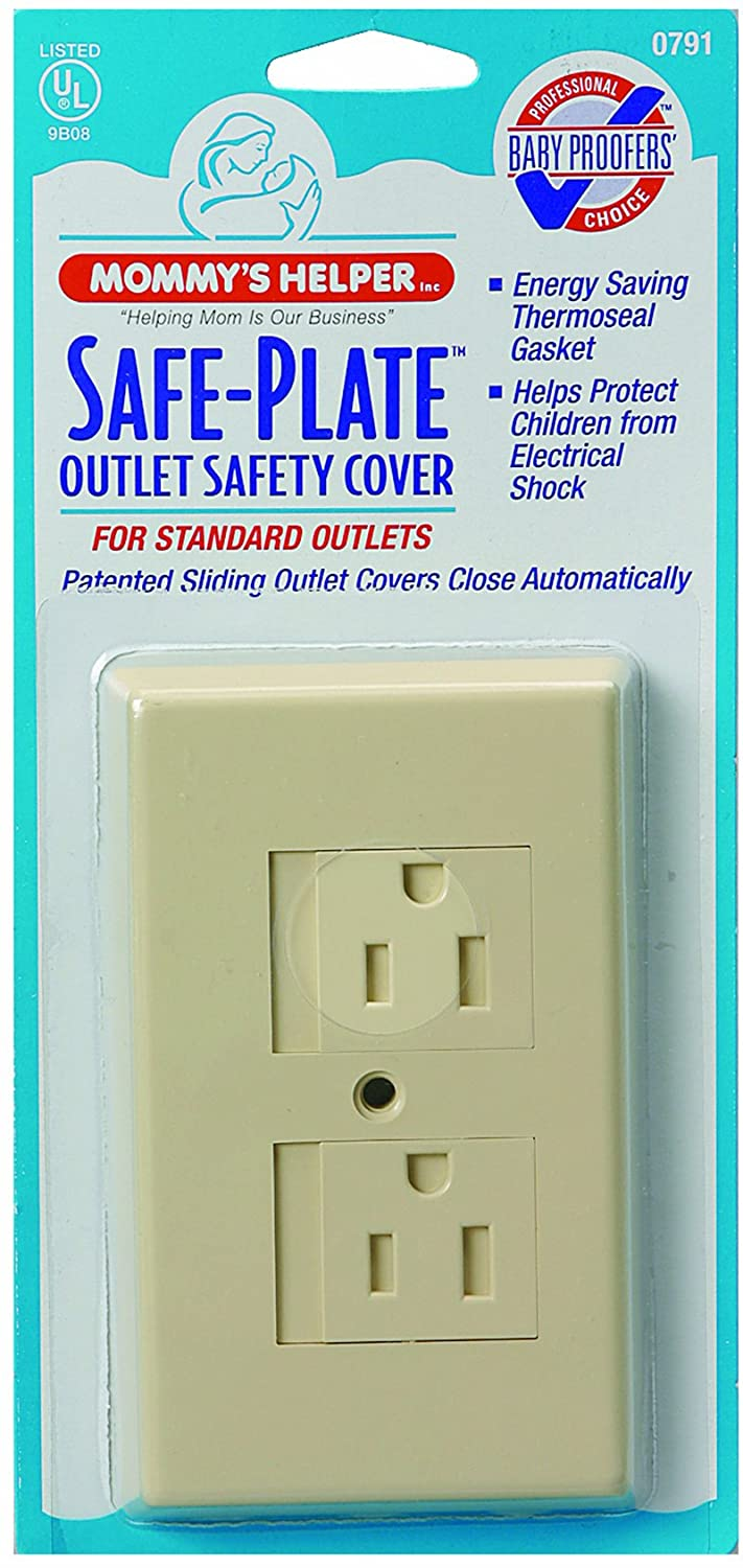 Mommy's Helper Safe Plate Electrical Outlet Cover, Almond, Standard Mommys Helper Inc 07910