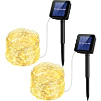 Mpow Solar String Lights, 33ft 100LED Outdoor String Lights, Waterproof Decorative String Lights Patio, Garden, Gate, Yard, Party, Wedding, Christmas (Warm White)