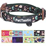 Best Adjustable Dog Collar - PetTastic Durable Soft & Heavy Duty with Cute Easter Design, Outdoor & Indoor use Comfort Dog Collar for girls, boys, puppy, adults, including ID Tag Ring