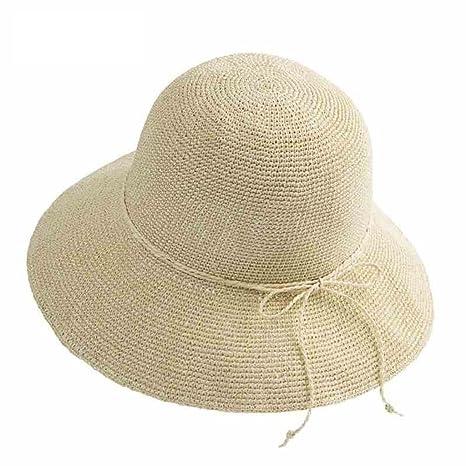 56f1e7f98e029 YXINY Viseras Mujer Sombrero de ala Ancha Playa Fiesta Proteccion Solar  Plegable Sombrero de Copa (