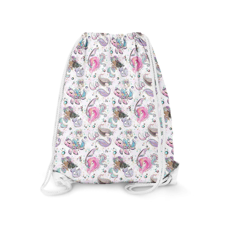 13.3 x 17.3 Drawstring Bag Mermaids Please Large