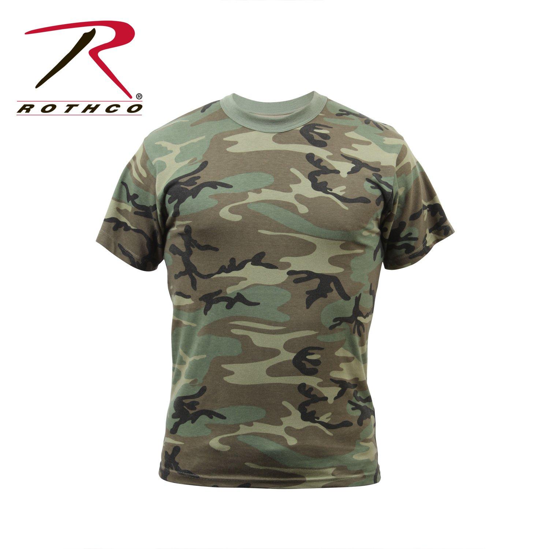 Rothco Vintage T-Shirt, Woodland Camo, Large