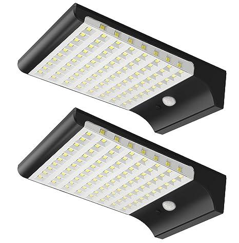 Amazon.com: hinmax - Luz solar con sensor de movimiento para ...