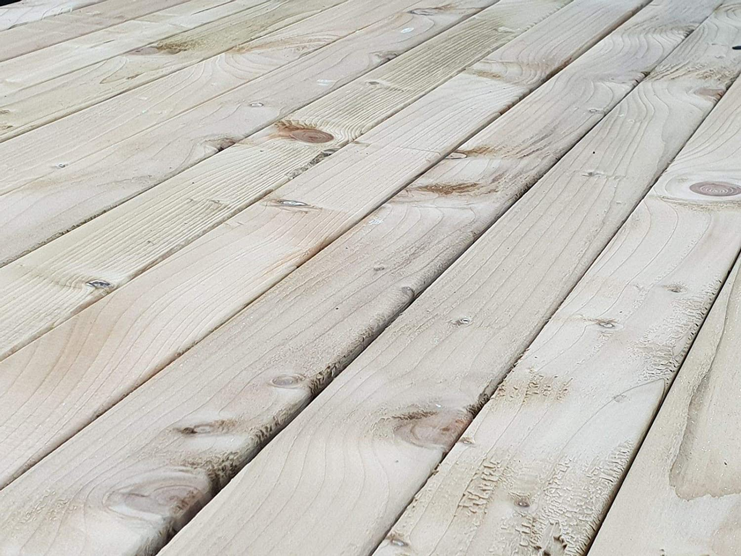 Pressure Treated Softwood Timber 4 x 2 - 2.4 Metres Pack of 4 100mm x 47mm