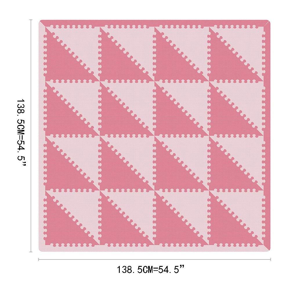 BUCHAQIAN Tapis Mousse B/éb/é Dalles pour Enfants de Puzzle Enfant Bas /âge de Jeu Mousse Souple Tapis de Sol /épais et Jouet /Éducatif P011011G301018