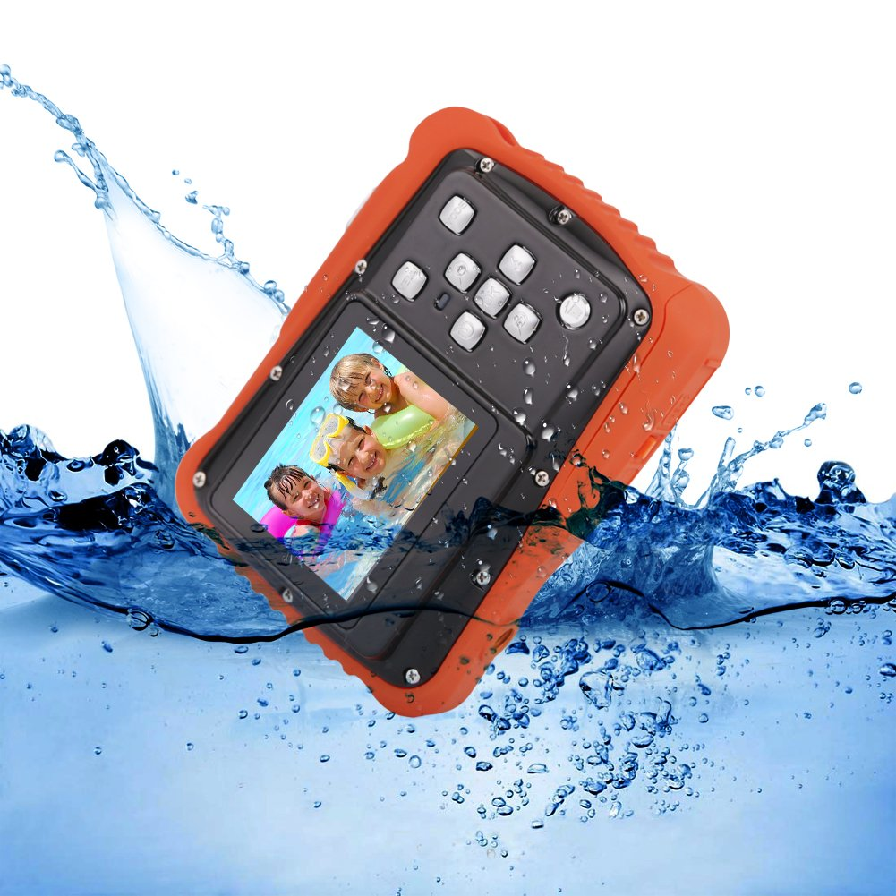 Kids Digital Camera - Waterproof to 3 Meters - HD Video Recorder and 5 Mega Pixels - Shockproof Childrens Camera (Orange) by BAVISION (Image #3)