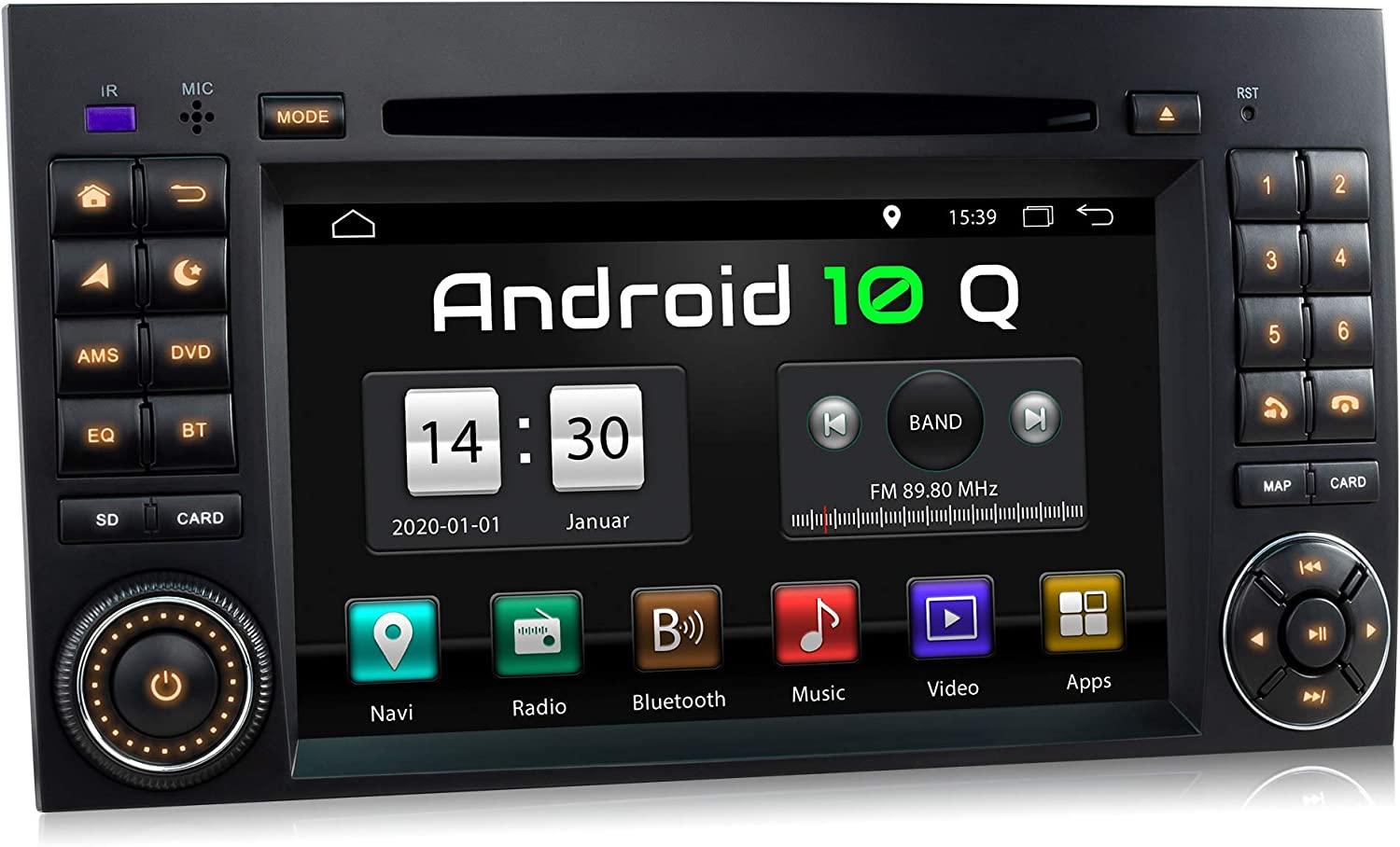 Xomax Xm D10za Car Radio With Android 10 Suitable For Mercedes A Class W169 B Class W245 Vito Viano Sprinter W906 I Gps Navigation Dvd Cd I Bluetooth 7 Inch Touch Screen Usb Sd Amazon De