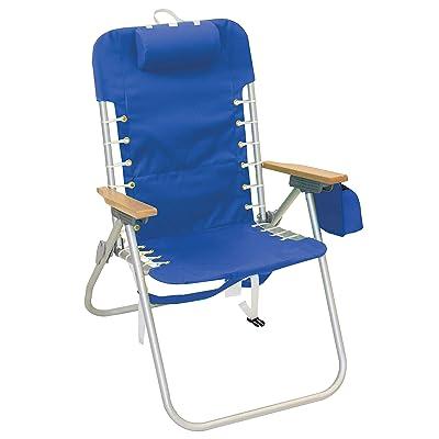 "Rio Beach Hi-Boy 17"" Suspension Folding Backpack Beach Chair - Light Blue : Sports & Outdoors"