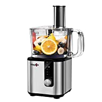 Magiccos Food Processor, 7-in-1 Versatile Food Chopper, Variable Speeds plus Pulse (8 Cup)