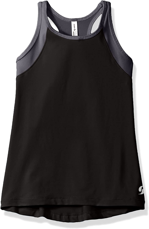 Soffe Girls' Big High Neck Track Tank: Clothing