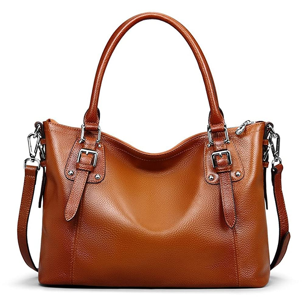 e386752cde2f S-ZONE Women s Vintage Genuine Leather Tote Large Shoulder Bag Handbag  Cross Body Bag